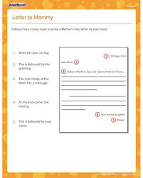 letter to mommy u2013 printable 3rd grade english worksheet u2013 jumpstart