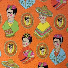 Halloween Fabric Panels by Frida Kahlo Fabric U0026 Decor