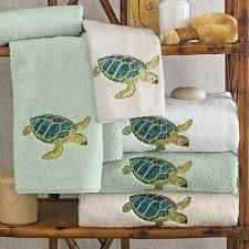 Likeable Island Sea Turtle Towels Gump S At Bathroom Decor
