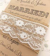 burlap wedding invitations classical burlap and lace wedding invitations elite wedding looks
