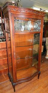 antique curio cabinets quarter sawn oak curved glass china