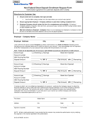 Authorization Letter For Bank Deposit Format free bank of america direct deposit form pdf eforms free