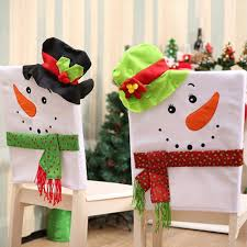 Chair Back Cover 60 50 42cm Christmas Snowman Chair Back Cover Kogomelo