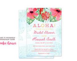 hawaiian themed wedding invitations hawaiian theme etsy