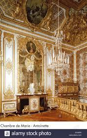 chambre de palace palace of versailles chambre de antoinette stock photo