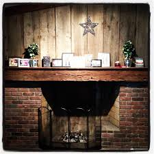 fireplace brick reclaimed barn wood and on pinterest idolza