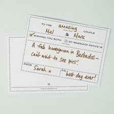 advice to the cards pack of 25 wedding advice cards dot border design by dimitria