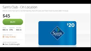 half price gift cards sam s club membership half price groupon 20 gift card