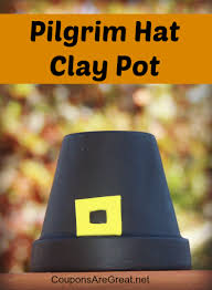 thanksgiving craft pilgrim and american thanksgiving clay pots