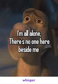 All Alone Meme - m all alone there s no one here beside