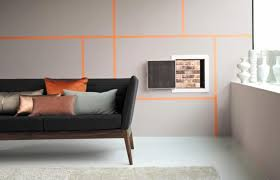 wandfarbe ideen streifen innenarchitektur kühles geräumiges wohnzimmer wandfarben