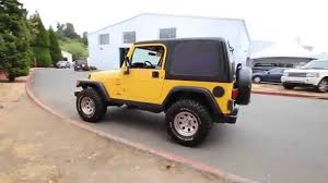 2001 jeep wrangler sport yellow 1p360056 redmond seattle