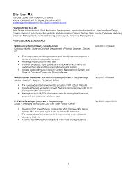 Resume Objective For Web Developer College Resume Application Samples Cheap Report Ghostwriter