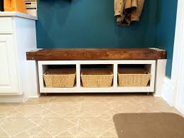 rolling mudroom bench with cubbies reality daydream