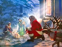 santa and baby jesus santa with baby jesus santa baby jesus and santa