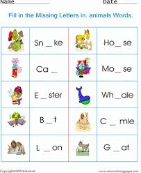 printable animal words worksheet coloring worksheets free online
