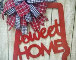 Alabama Football Home Decor Alabama Door Hanger Etsy