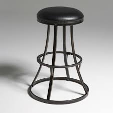 Unique Bar Stools Unique Rounded Bar Stool With Black Cast Iron Base And Synthetic
