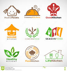 restaurant and home kitchen logo vector set design stock vector
