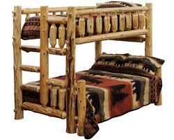 Timberline Log Bunk Beds  Twin Full Queen Bunkbeds The Log - Log bunk beds