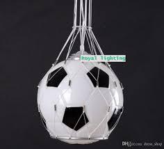 discount soccer ball children room glass light pendnat lamps