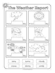 weather worksheet for kindergarten free activities worksheets