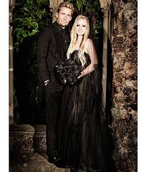 avril lavigne black wedding dress here s avril lavigne s black wedding dress in all its