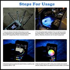 app controlled car lights app control car interior decoration lights 12 led car interior