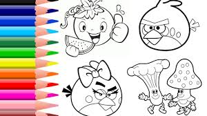 how to color angry birds coloring pages vegetables coloring book
