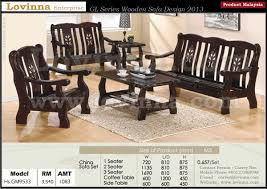 Wooden Furnitures Sofa Lovinna Product Malaysia Wooden Sofa