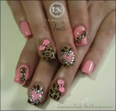 amazing acrylic nails with bows and cheetah nail designs plus