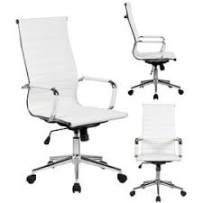 2xhome white executive ergonomic high back modern office chair