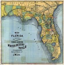 Map Of Fort Myers Florida by Map Of Florida 3 Leading Winter Resort Hotels 1885