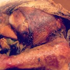 bacon soaked cheesecloth wrapped turkey for crispy skin and
