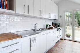 backsplash tiles for kitchen ideas glossy white kitchen backsplash tiles design ideas pertaining to
