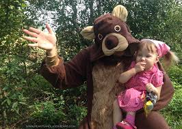 father daughter masha bear halloween costume