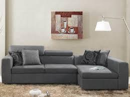 coussin canapé gris canapé d angle tissu 4 places gris coussins fournis