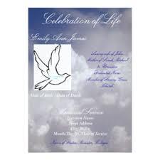 Invitation Programs Celebration Of Life Invitations U0026 Announcements Zazzle