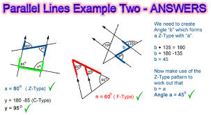 angles and parallel lines passy u0027s world of mathematics