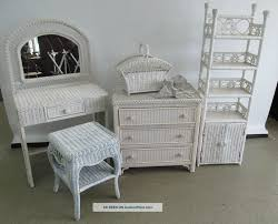 Wicker Vanity Set Inspiring White Wicker Vanity Set 82 In Home Decoration Ideas With
