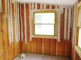 Painting Wood Paneling Ideas Painting Wood Paneling Brushes Rollers And Beer Rather Square