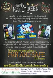 halloween safety shiner the shark palm beach county safety program