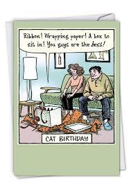 Cat Birthday Cards Cat Birthday Humor Greeting Card Nobleworkscards Com