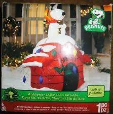 peanuts airblown inflatables 6 peanuts snoopy baron christmas airblown