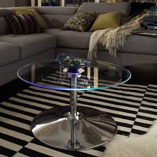 Overstock Round Coffee Table - lorin cocktail table modern led accent table inspire q modern