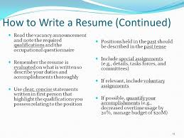 Resume First Person Federal Resume Writing Workshop Ppt Video Online Download