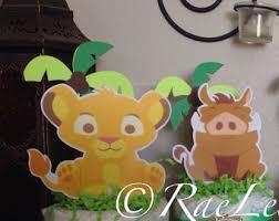 lion king baby shower decorations set of 5 lion king cake minis simba nala timon and