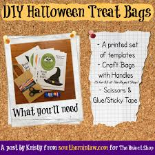 halloween treat bag craft southern in law diy halloween treat bags includes free templates