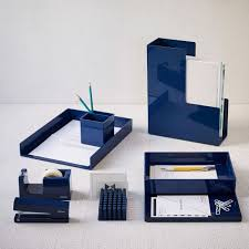 Blue Desk Accessories Color Pop Office Accessories Navy West Elm