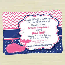 whale baby shower invitations baby shower invitation pink and navy whale baby shower